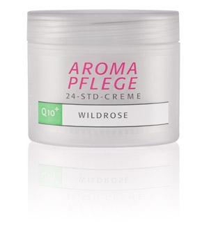 Aroma-Pflege-24-Std-Creme Q10 + Wildrose 100ml